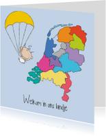 Geboortekaartjes - Welkom in ons landje 1