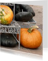 Wenskaarten divers - Wenskaart herfst pompoenen