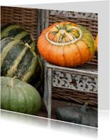 Zomaar kaarten - Wenskaart Herfst pompoentje