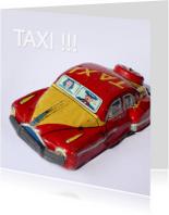 Wenskaarten divers - wenskaart Taxi blik