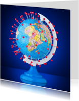 Welkom thuis kaarten - Wereldreis op globe