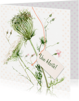 Verjaardagskaarten - Wilde bloemen illustratie