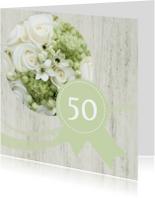 Jubileumkaarten - Wood flower jubileum 50