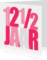 Jubileumkaarten - Woorden 12 1/2 Jubileum - BK