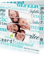 Felicitatiekaarten - Woorden Aqua Gefeliciteerd! - BK