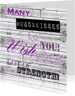Sterkte kaarten - Woorden Hugs & Kisses - BK