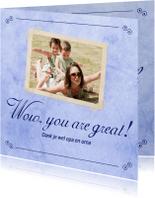 Bedankkaartjes - Wow, you are great! - BK