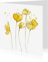 Bloemenkaarten - yellow spring