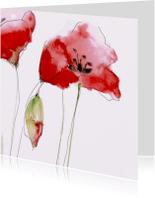 Bloemenkaarten - Yesmee klaprozen