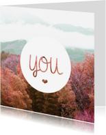 Liefde kaarten - You modern liefde kaartje