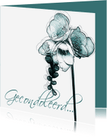 Condoleancekaarten - YVON DROOM rouwkaart hangbloem