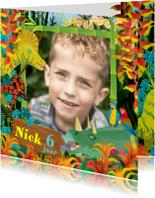 Kinderfeestjes - YVON kinderfeest dinosaurus uitnodiging