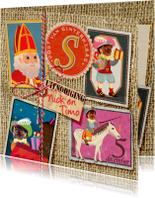 Sinterklaaskaarten - YVON sinterklaas hip cool zegels