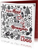 Zakelijke kerstkaarten - YVON stempel zakelijk logo wit