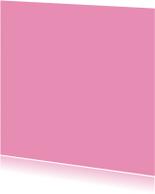 Blanco kaarten - Zacht roze vierkant enkel