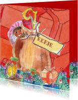 Sinterklaaskaarten - Zak van Sinterklaas met schoenen