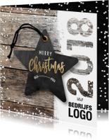 Zakelijke kerstkaarten - Zakelijk kerstkaart 2018 ster logo