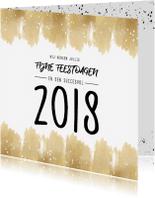 Zakelijke kerstkaarten - Zakelijke kerstkaart 2018 waterverf