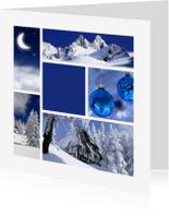 Zakelijke kerstkaarten - Zakelijke kerstkaart Donkerblauw