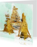 Zakelijke kerstkaarten - Zakelijke Kerstkaart Drie Maal Goud