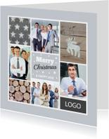 Zakelijke kerstkaarten - Zakelijke kerstkaart fotocollage grijs - LB