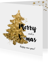 Zakelijke kerstkaarten - Zakelijke Kerstkaart - glitter boom