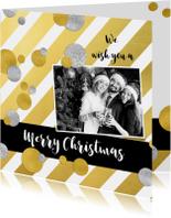 Zakelijke kerstkaarten - Zakelijke kerstkaart goud strepen - SG