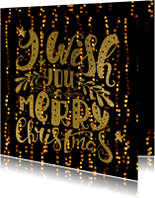 Zakelijke kerstkaarten - Zakelijke kerstkaart handlettering - LO