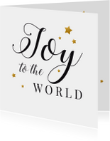 Zakelijke kerstkaarten - Zakelijke kerstkaart Joy