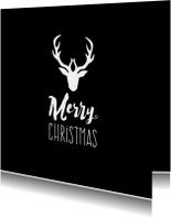 Zakelijke kerstkaart Merry christmas met rendier