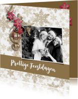 Zakelijke kerstkaarten - Zakelijke kerstkaart met foto en logo - SG