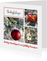 Zakelijke kerstkaarten - Zakelijke kerstkaart met rood