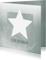 Zakelijke kerstkaarten - Zakelijke kerstkaart met ster in groengrijs