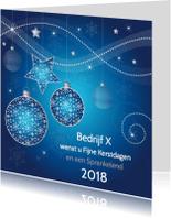 Zakelijke kerstkaarten - Zakelijke kerstkaart modern blauw - LB