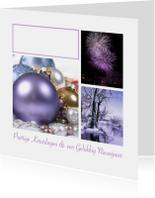 Zakelijke kerstkaarten - Zakelijke kerstkaart Paars