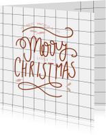 Zakelijke kerstkaarten - Zakelijke kerstkaart ruit -HM