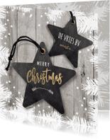 Zakelijke kerstkaarten - Zakelijke kerstkaart ster labels