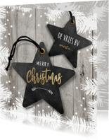 Zakelijke kerstkaart ster labels