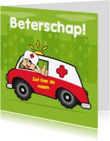 Beterschapskaarten - Zieksnel beter sterkte ziekenauto 70