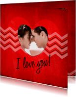 Liefde kaarten - ZigZag jeans liefde red - BK
