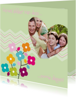 Beterschapskaarten - ZigZag lente kaart groen - BK