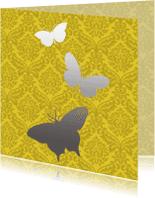Dierenkaarten - Zilveren vlinders
