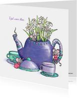 Vriendschap kaarten - Zomaar een kopje thee drinken