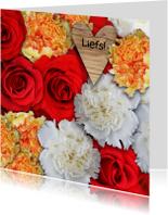 Bloemenkaarten - Zomaar, fleurige bloemen - AZ