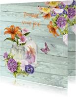 Zomaar kaarten - Zomaar fleurige bloemen