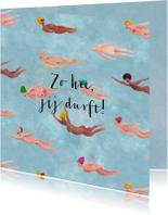 Zomaar kaarten - Zomaar geschilderd naakte, vliegende of zwemmende mensen