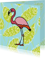 Dierenkaarten - Zomaar kaarten - flamingo fun