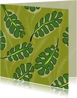 Zomaar kaarten - Zomaar kaarten - Tropische blad