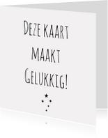 Zomaar kaarten - zomaarkaart Gelukkig