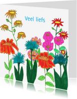 Bloemenkaarten - Zomer bloemenkaart